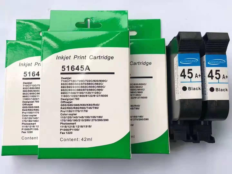 HP45墨盒安装注意事项